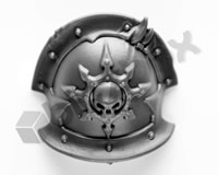 Chaos Space Marines Shoulder Pad Q