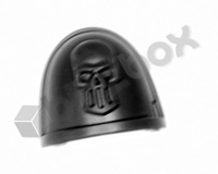 Deathwatch Veterans Chapter Shoulder Pad - Silver Skulls