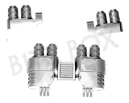 Grey Knights Nemesis Dreadknight Exhausts