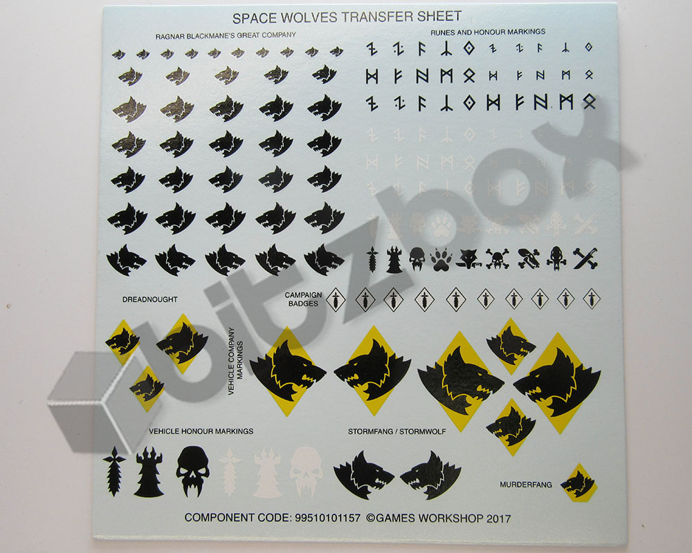 Space Wolves Transfer Sheet C