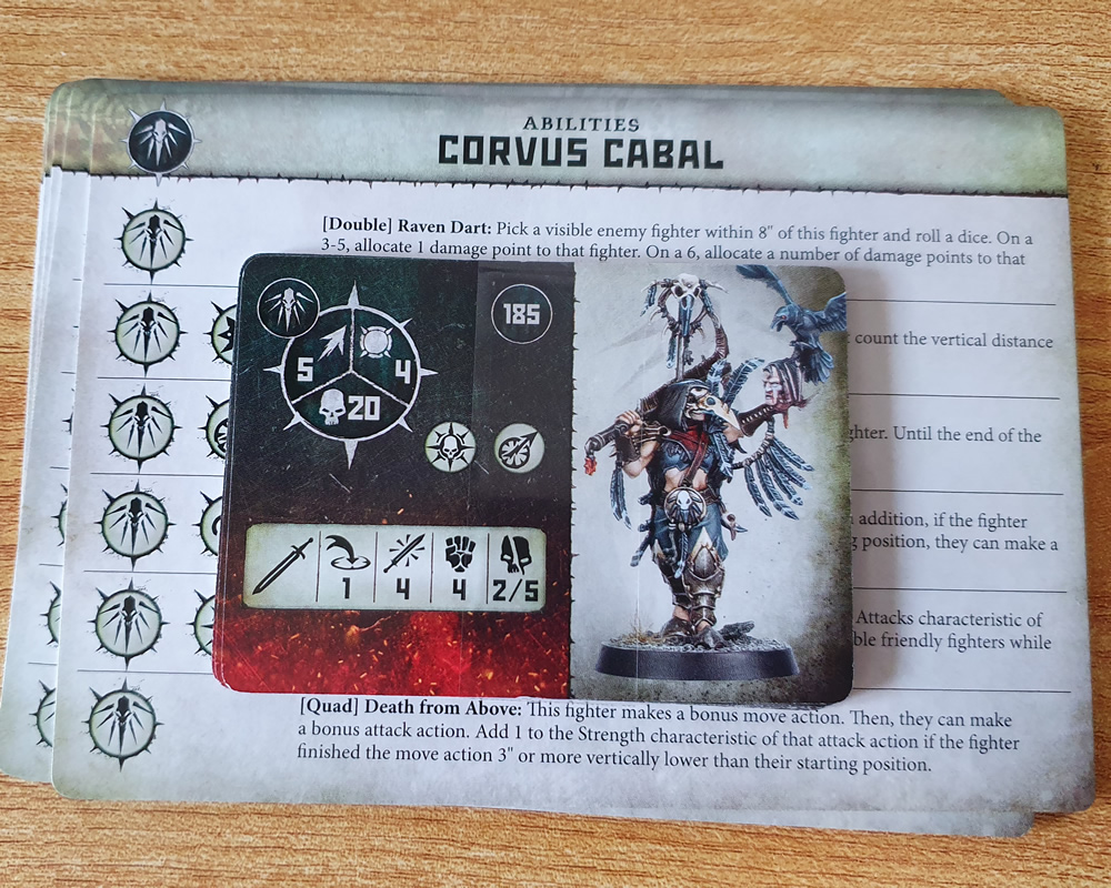 Warcry Corvus Cabal Cards
