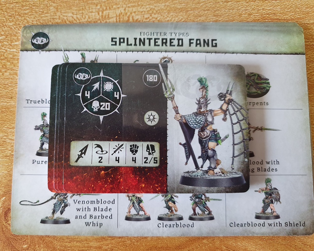 Warcry Splintered Fang Cards
