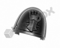 Deathwatch Veterans Chapter Shoulder Pad - Iron Hands