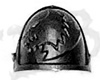 Space Wolves Grey Hunters Shoulder Pad F